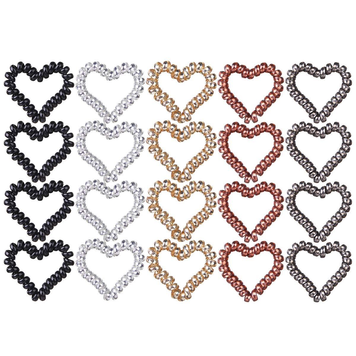 Heart foe inspired heart elastic heart hair ties heart favors-5//8