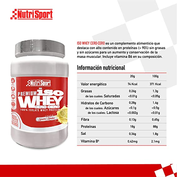 Nutrisport - Iso Whey 0.0 Premium, Proteínas 90% en Polvo ...