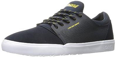 Mens Stratos Lt Skateboarding Shoe, Black Woven DVS