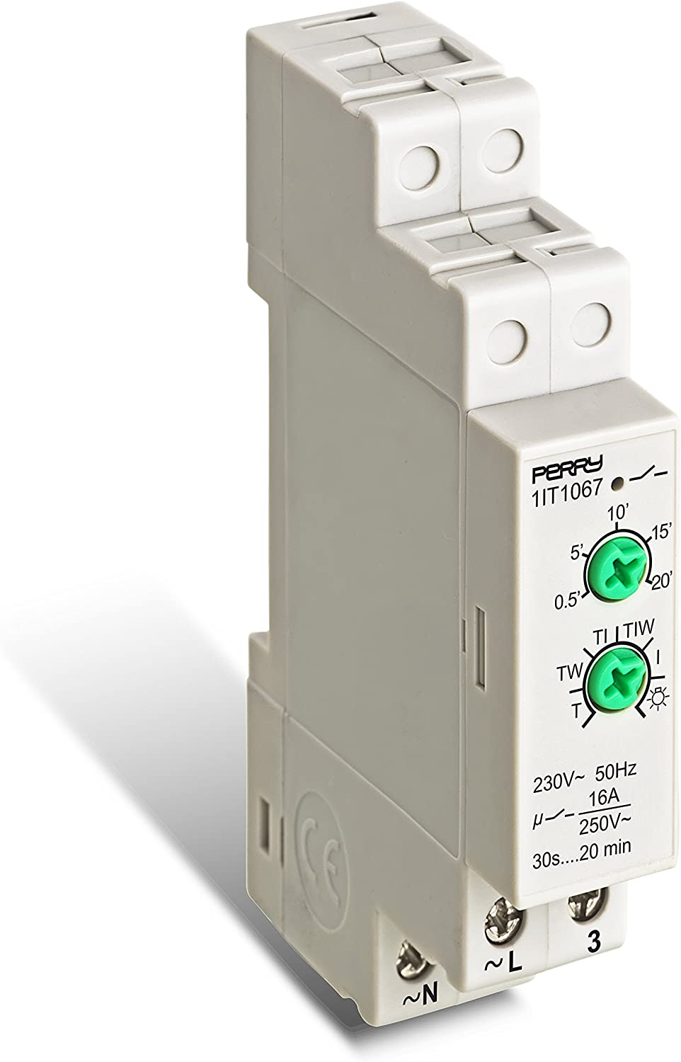 Perry 1IT1067 Interruptor Temporizado para Luces Escala, Blanco ...