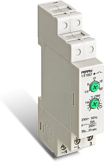 Perry 1IT1067 Interruptor Temporizado para Luces Escala, Blanco: Amazon.es: Bricolaje y herramientas