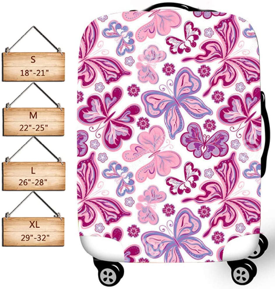 Coloranimal Cute Butterfly Equipaje Funda Protectora por MukMok para Maleta elástica Lavable de 18-32 Pulgadas-Arco_l (26