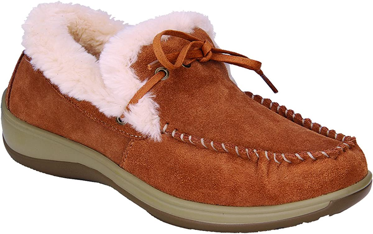 Leather Moccasins Slippers Capri