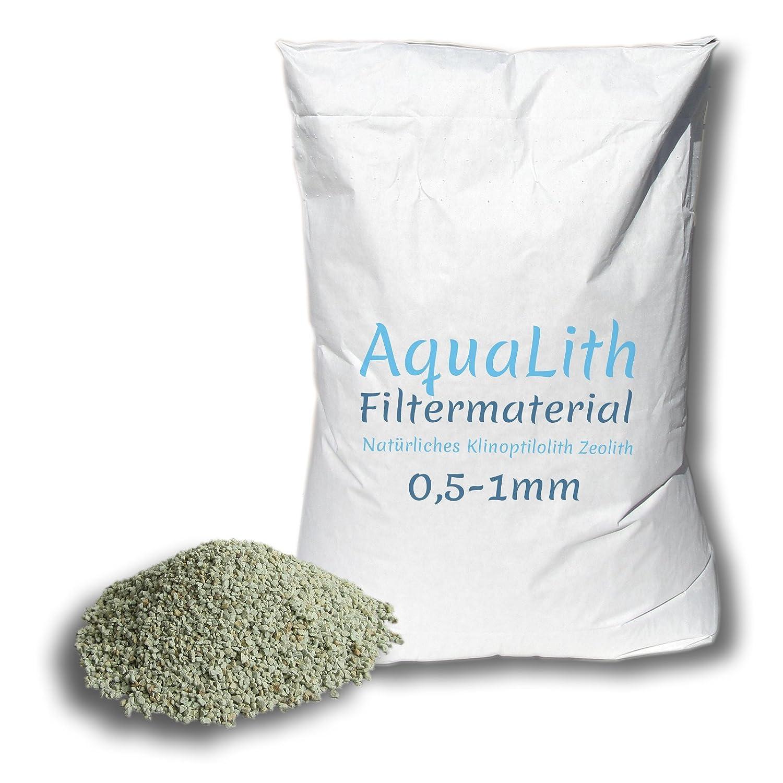 25 kg matériau filtrant zéolite 0.5-1 mm pour les étangs, les étangs de natation labradorit.de