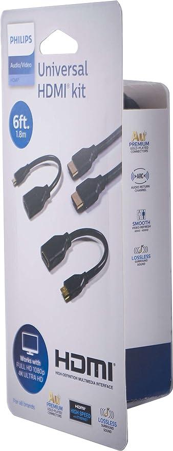 Mumbi Adaptador con eternet Canal de Retorno de Audio Toma HDMI de 19 Pulgadas para la conexi/ón HDMI Micro HDMI a HDMI Calidad certificada