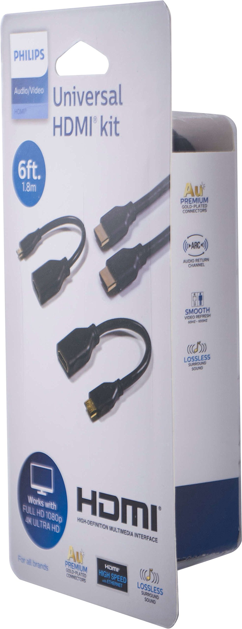 Philips Universal HDMI Kit, Full HD 1080p and 4K Ultra HD Compatibility, HDMI-to-mini HDMI adapter, HDMI-to-micro HDMI Adapter, by Philips (Image #2)
