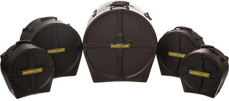 HARDCASE HSTANDARD Drum Case Set for 'Standard' Kits, 5 Pieces