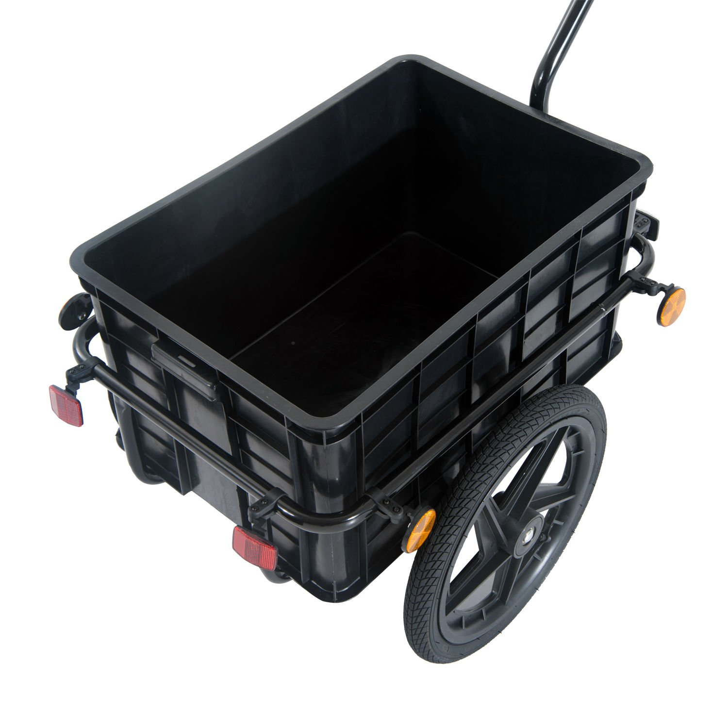 Aosom Enclosed Bicycle Cargo Trailer - Black by Aosom (Image #4)