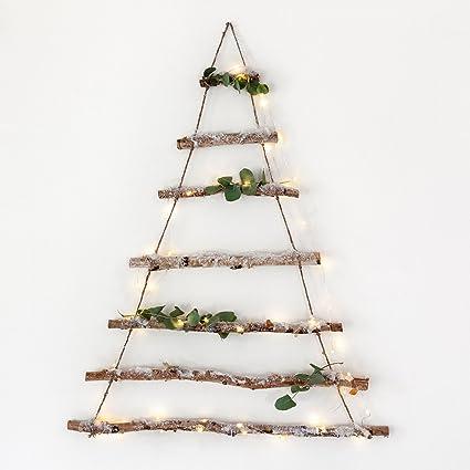 Alberi Di Natale In Legno Amazon.Decorazione Ad Albero Di Natale Fatta Di Rami Di Betulla Di Lights4fun