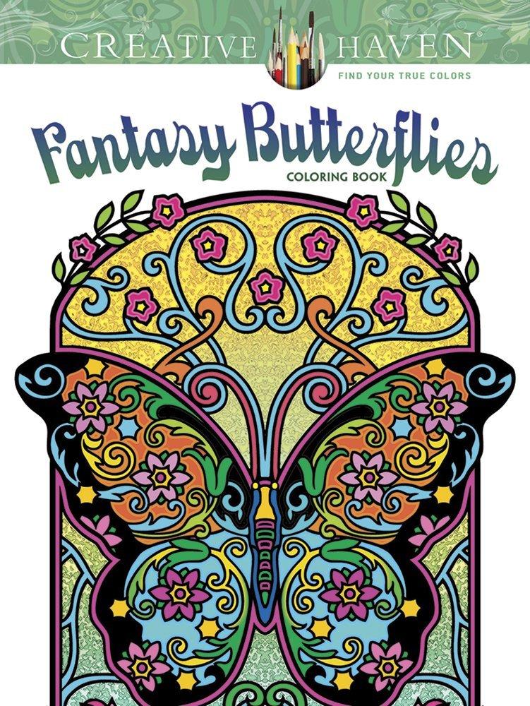 Amazon.com: Creative Haven Fantasy Butterflies Coloring Book (Adult ...