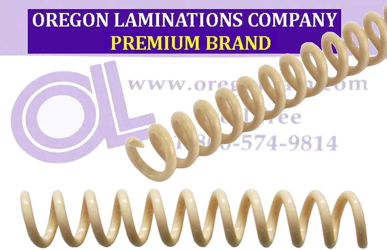 11//32 x 12 pk of 100 Spiral Coil Binding Spines 9mm PMS 467 C 4:1 Tan