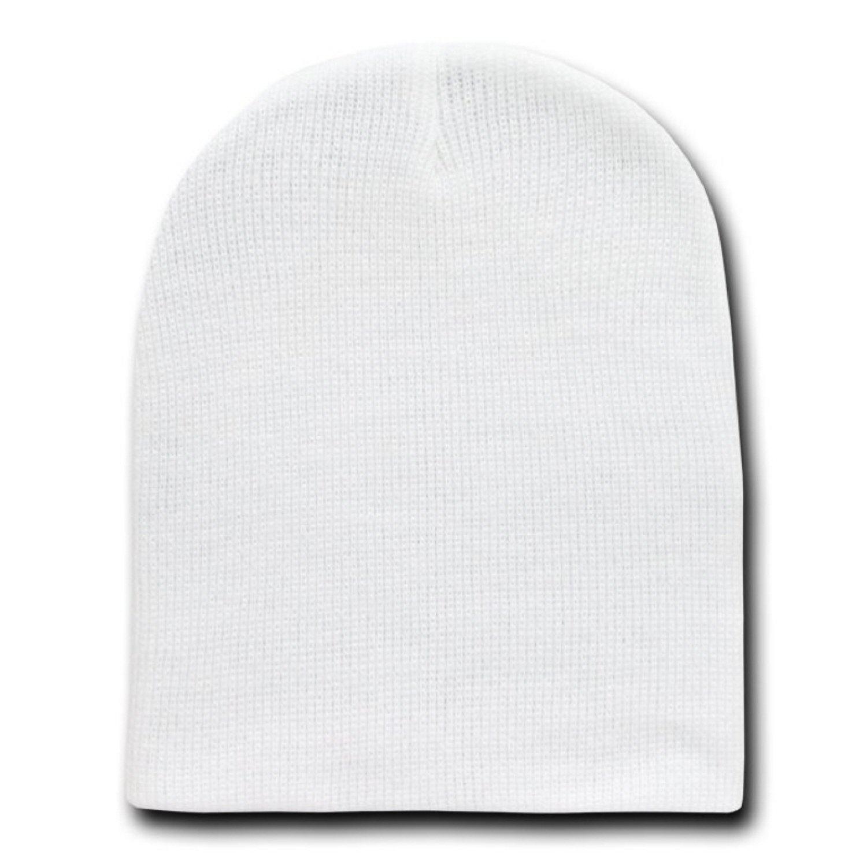 a571e823e0eab Amazon.com  WHITE SHORT BEANIE SKI CAP CAPS HAT HATS TOQUE  Clothing