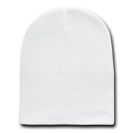 Amazon.com  WHITE SHORT BEANIE SKI CAP CAPS HAT HATS TOQUE  Clothing 5d6a08681c2