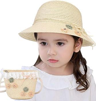 Amazon.com: Sombreros de paja Sumolux para niñas y niños ...