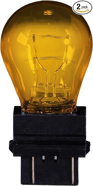 Pack of 2 Eiko 3057NA-BP Hi-Temp Amber Miniature Lamp,