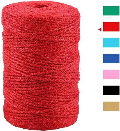 Hemptique Bobine de Corde de Chanvre 20# 205// Pkg-Rouge