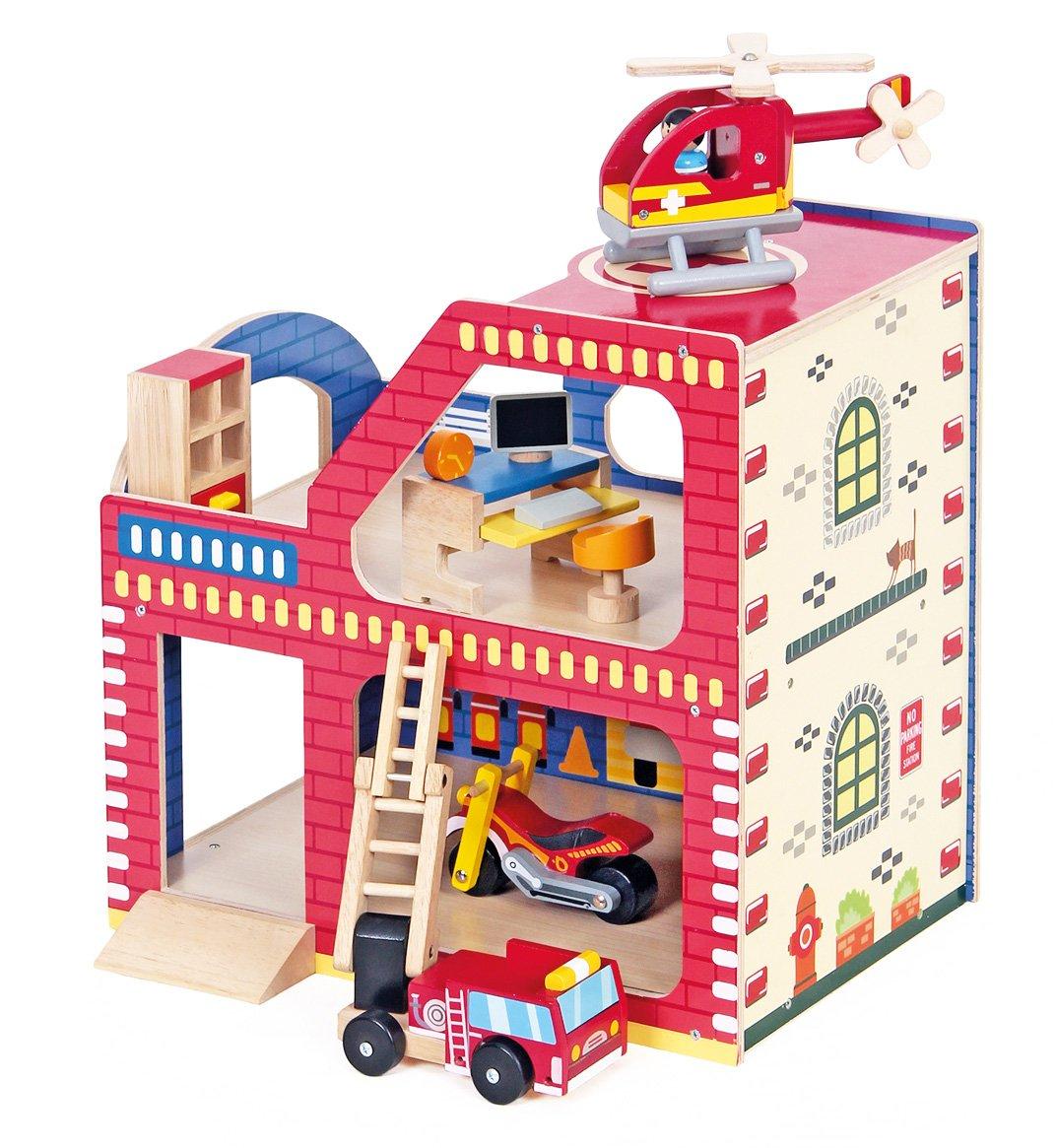 Feuerwehrstation Holz - Mentari Feuerwehrstation aus Holz