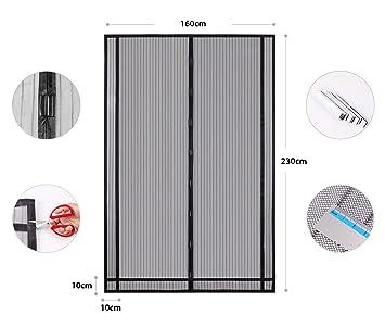 Sekey Tendina Magnetica Per Zanzariera Ideale Per Porte Da Balcone Cantine Terrazze Ritagliabile In Altezza E Larghezza Facile Da Montare 230