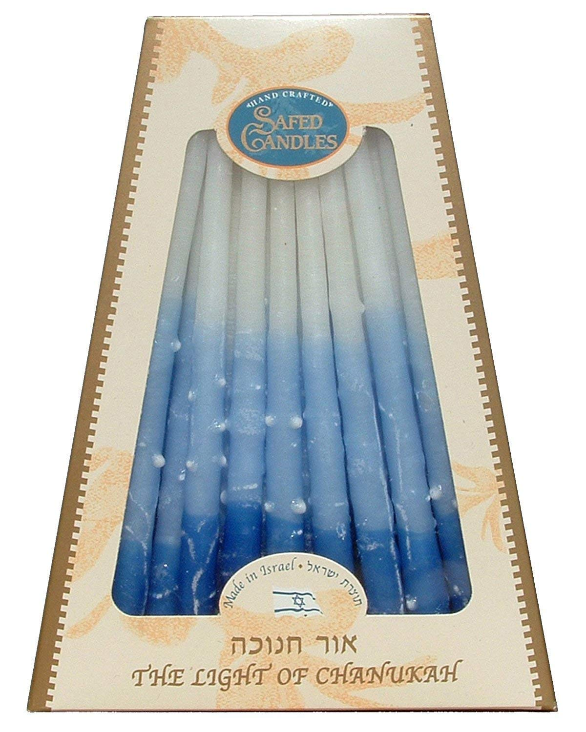 Safed Candles Hand Crafted The Light Of Chanukah. Pack Of 3.