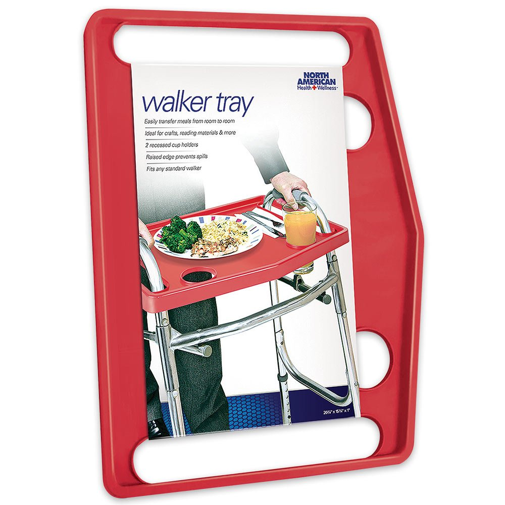 North American Health + Wellness Walker Tray - Red