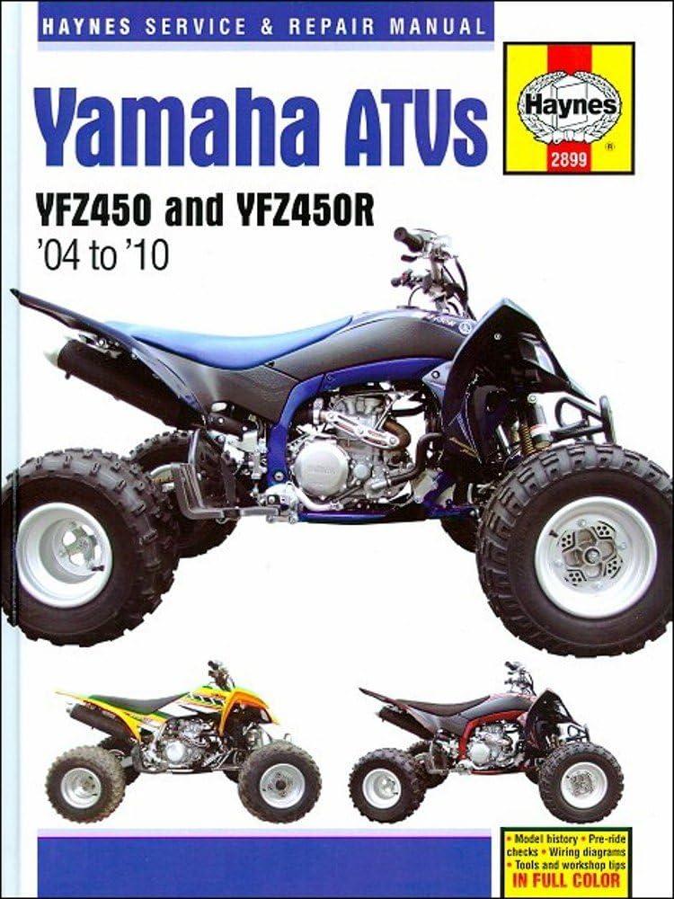 Amazon Com Haynes Manuals Yam Yfz450 R 04 10 2899 Automotive