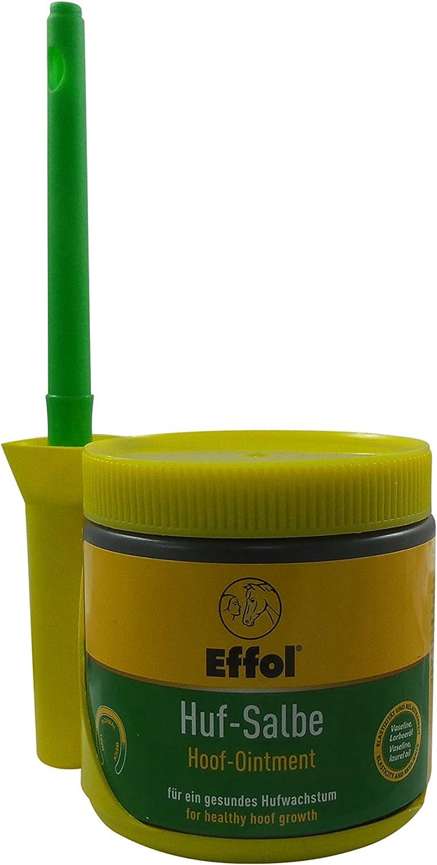 Set Effol HUF - Ungüento en amarillo + Effol Pincel - Fix - pomada para cascos con VASELINA y Aceite De Laurel 500ml Un ganzjähriges Producto para el Cuidado Para Un Saludable crecimiento de la pezuña