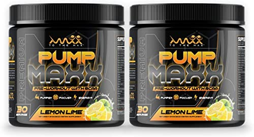 Pump Maxx- Premium Pre-Workout Energy Boosting Formula for Men and Women, Amazing Pumps, Incredible Vascularity, Increased Bloodflow, Powerful NO Boosting Effects, Muscle Growth, Lemon Lime Flavor