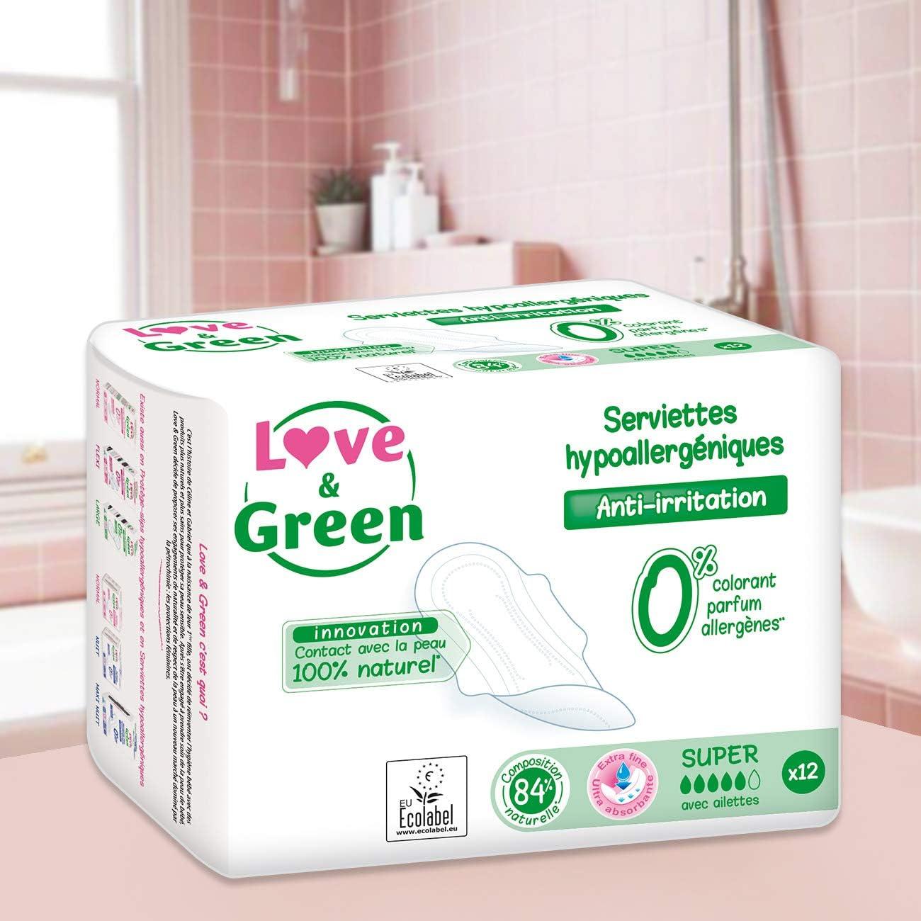 Love /& Green Prot/ège-slips Large x 28