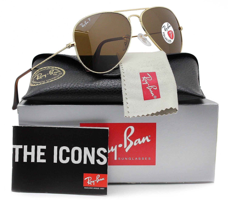 Ray-Ban RB3025 Aviator Sunglasses (001/57) RB 3025 58mm