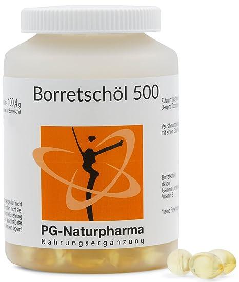 Aceite de borraja - 150 cápsulas con 500 mg de aceite de borraja - con ácidos