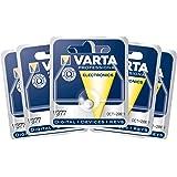 """VARTA Lot de 5 Blisters de 1 Pile oxyde argent """"Watch"""" V377 (SR66) 1,55 Volt"""