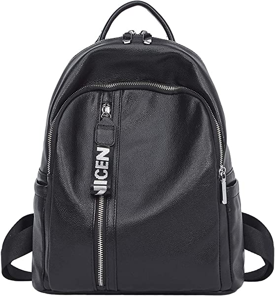 42f3c0d500 Genuine Leather Backpack for Women Large Ladies Travel School Bag Shoulder  Purse  Amazon.co.uk  Shoes   Bags