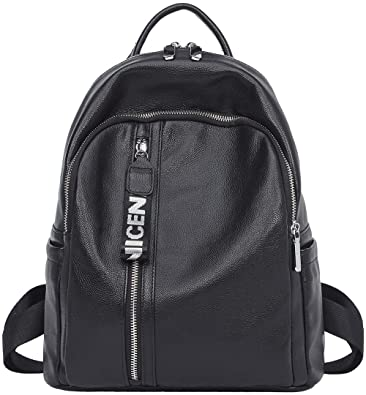 7707c1f935e Image Unavailable. Image not available for. Color  Genuine Leather Backpack  for Women Large Ladies Travel School ...