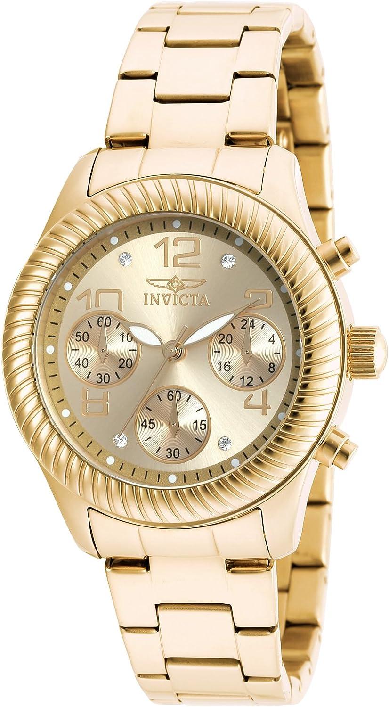 Invicta Women's Angel Quartz Watch, Gold, 20266