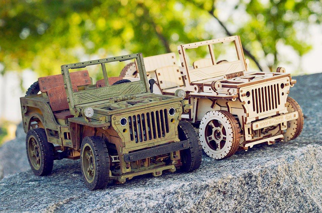 Wooden Mechanical 3D Model ''4x4''