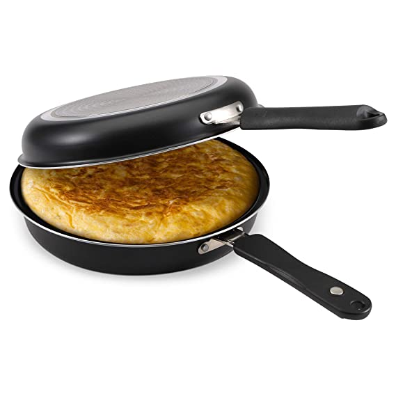 Amazon.com: Renberg Q2914 Double Frying Pan, Special Tortillas, 24 x 9.5 cm, Induction, Malaga, Black: Home & Kitchen