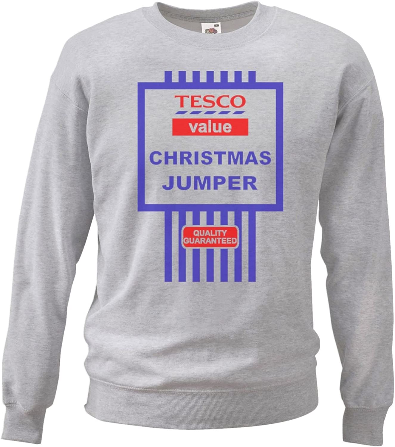 The Dragons Den Medium Grey Tesco S Value Christmas Jumpers Sweatshirt Funny Gift Idea Amazon Co Uk Clothing
