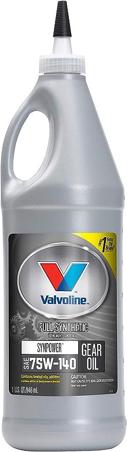 Amazon.com: Valvoline SynPower SAE 75W-140 Full Synthetic Gear Oil 1 QT: Automotive