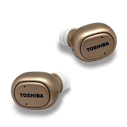 Toshiba True Wireless Bluetooth Earbuds Gold Color New
