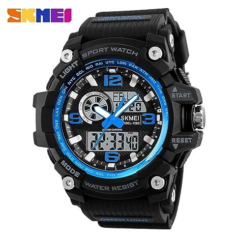 Reloj de pulsera digital, de cuarzo, grande, Beimaji Trade para hombre, con