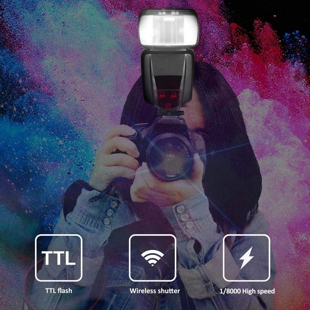 2.4GHz Wireless Trigger Shoe Mount TTL Flash High Speed Sync Speedlite for Nikon D600//D610//D700// D750//D7000//D7100// D7500//D800//D810//D90//D4 Camera