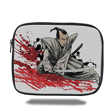 Amazon.com: Laptop Sleeve Case,Japanese,Warrior Holding a ...