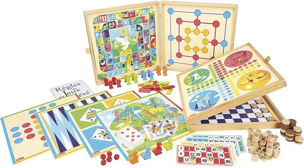 Jeujura 8124- Juego de Mesa de Juegos clásicos, 150 Reglas, piones de Madera: Amazon.es: Juguetes y juegos