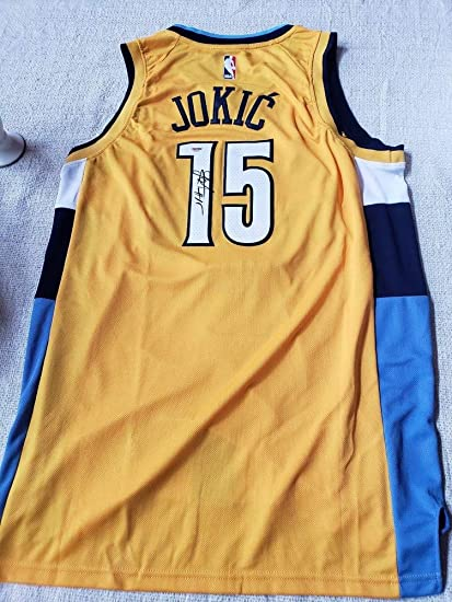 info for 513da 66a22 Nikola Jokic Autographed Signed Denver Nuggets Nike Swingman ...
