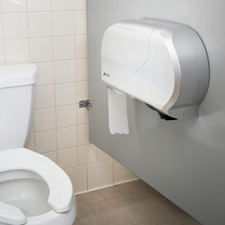 San Jamar R4000TBL Arctic Blue Classic Twin Jumbo Roll Toilet Tissue Dispenser: Toilet Paper Holders: Amazon.com: Industrial & Scientific
