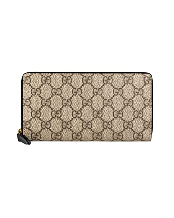 27efebeb7bca GUCCI - Women's Leather Wallet SUPREME CANVAS - beige, One size ...