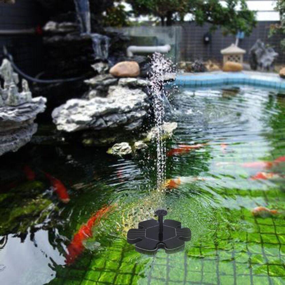 fuente solar bomba de agua de jardín Bomba Micro Fuente flotante Fuente de agua solar Bomba Suspensión exterior Fuente circular circular para jardín pileta ...