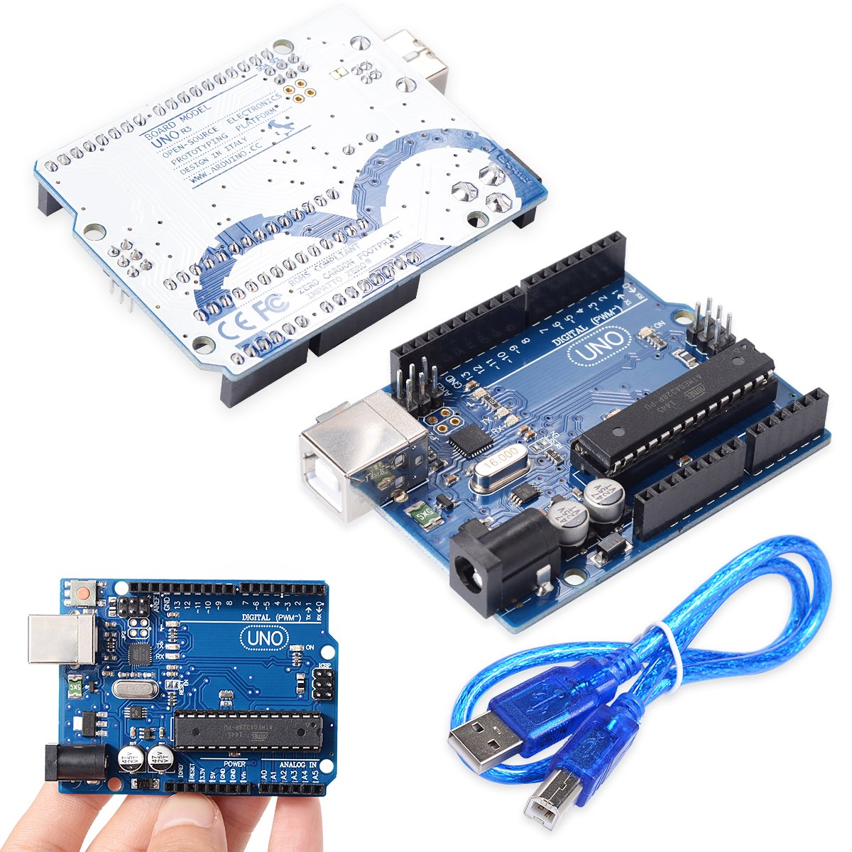 XCSOURCE® Tablero UNO R3 ATmega328P ATmega16U2 Versión 2015 + Cable USB Gratis Para Arduino DIY TE111