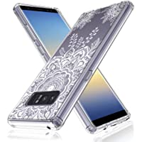 LK Henna Floral Lace Clear Design Printed Air Hybrid Protective Case for Samsung Galaxy Note 8