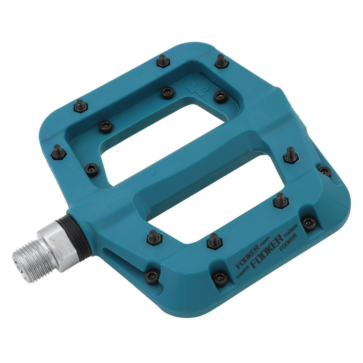 FOOKER MTB Bike Pedal Nylon 3 Bearing Composite 9/29 Mountain Bike Pedals High-Strength Non-Slip Bicycle Pedals Surface for Road BMX MTB Fixie Bikesflat Bike by FOOKER